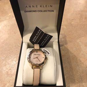 New Anne Klein Women's Pink Bracelet Watch